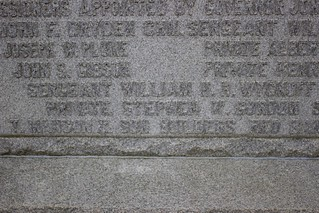 15th regiment monument close up