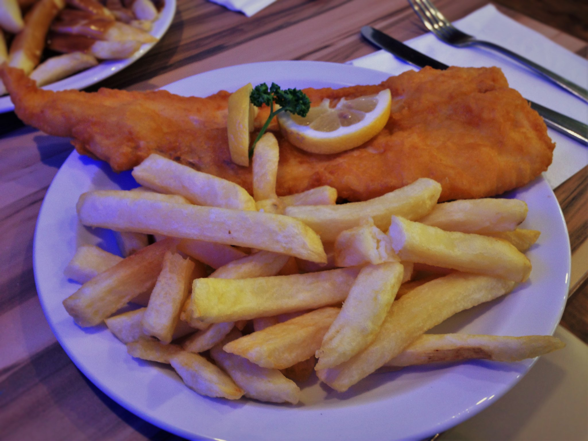 Fish and Chips at The Sea, Blackpool
