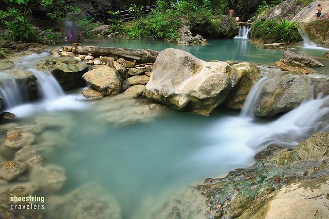mini cascades at the stream from Daranak Falls