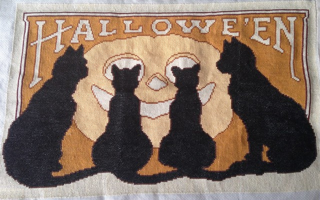 Halloween cats, finished.
