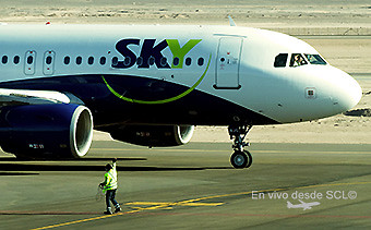 Sky Airline A319 despacho CJC (RD)