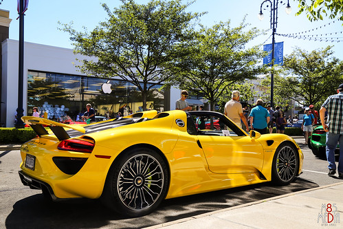 yellow porsche 918 spyder photo taken at the 2015 rally f flickr. Black Bedroom Furniture Sets. Home Design Ideas