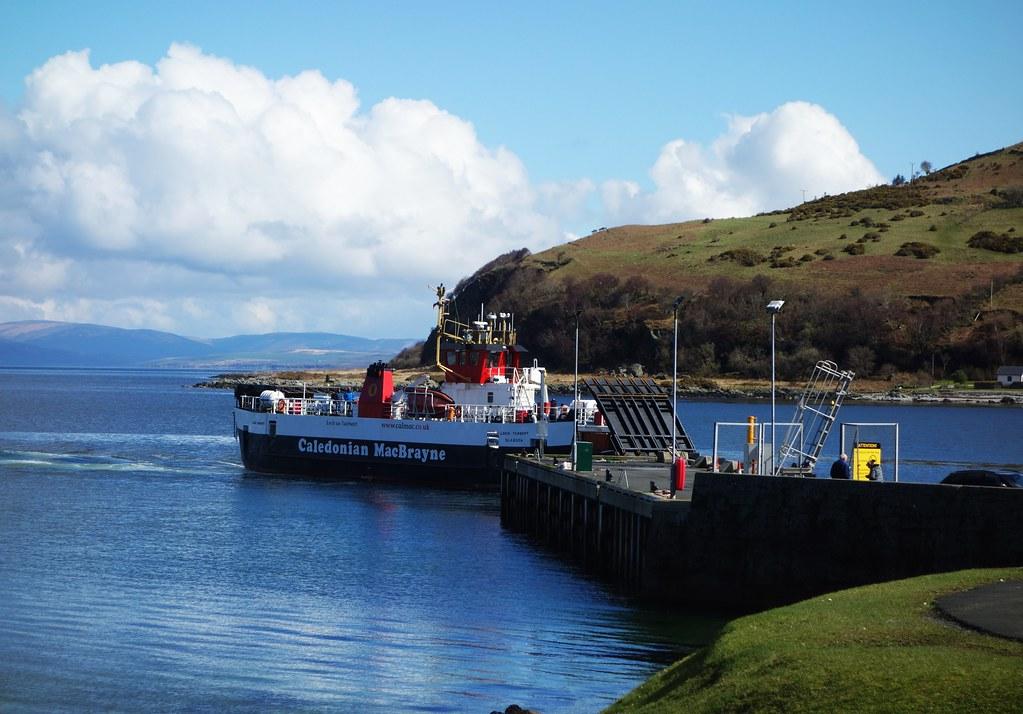 Kintyre Ferry at Lochranza, Arran, Scotland
