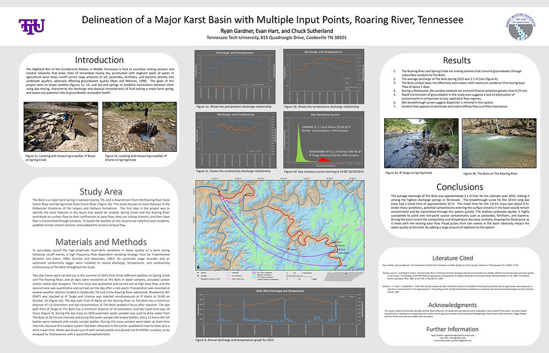Delineation of a Major Karst Basin with Multiple Input Points, Roaring River, Tennessee - Poster