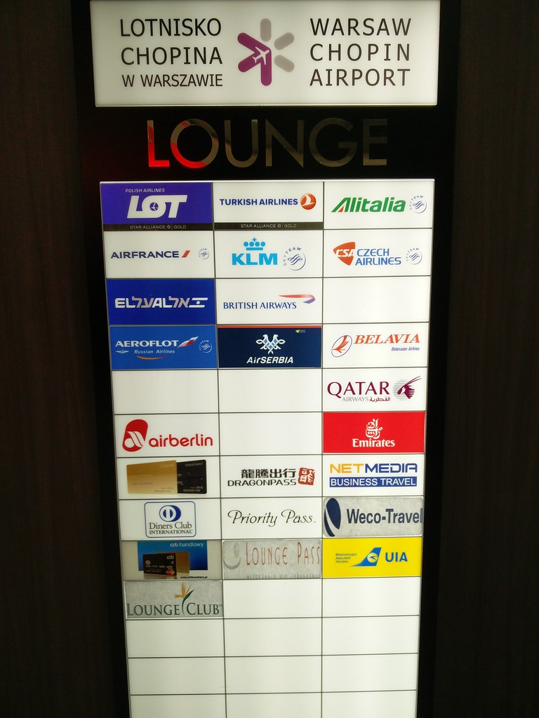 Airlines using the Bolero lounge