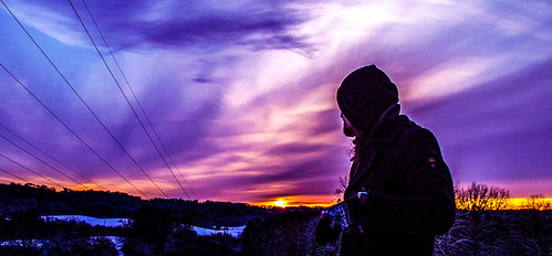 Sonnenuntergang Winter