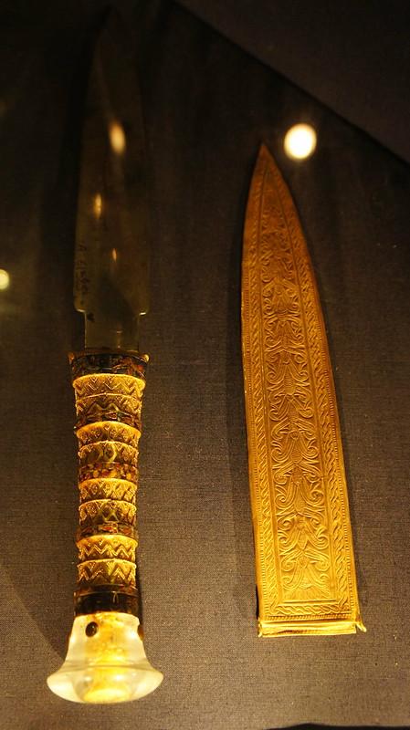 King Tutankhamen's dagger خنجر الملك توت عنخ امون