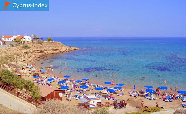 Road to the Kapparis Beach, Protaras, Cyprus
