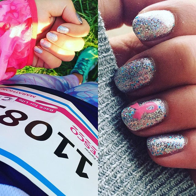 #willubmine absolutely my favourite ever manicure- my marathon nails for the Cancer Research RFL marathon in October. #throwback