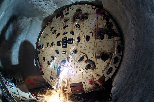 Gotthard Base Tunnel construction