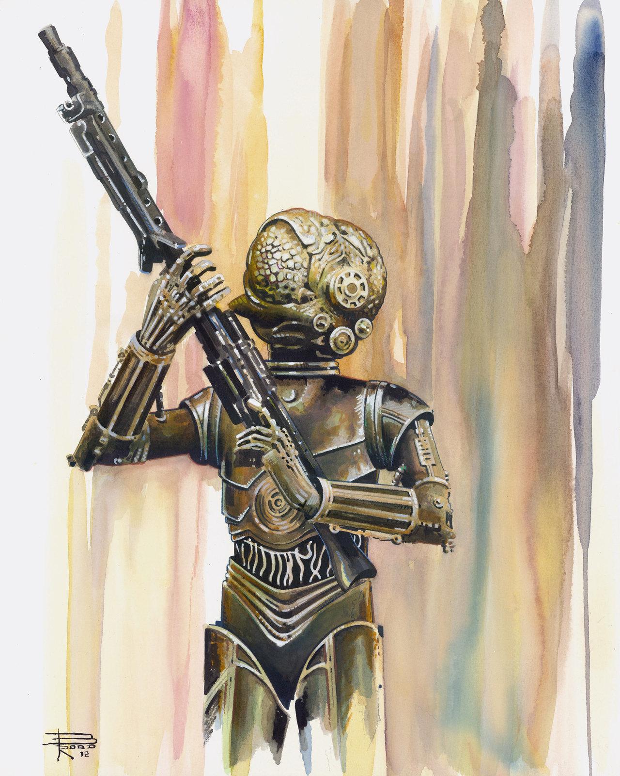 Star Wars 4-LOM by Brian Rood
