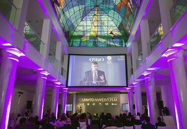 12 UNWTO Awards Forum, 18 January 2016 in Palacio Neptuno, Madrid