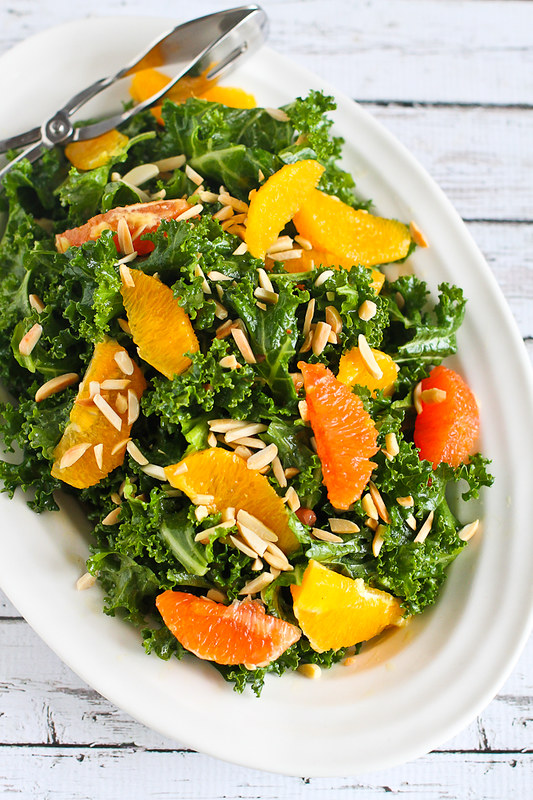 Kale, Toasted Almond & Orange Salad