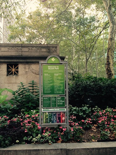 NYC aug2015. Bryant Park. Nueva York