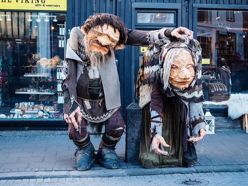 Trolls in Reykjavik, Iceland