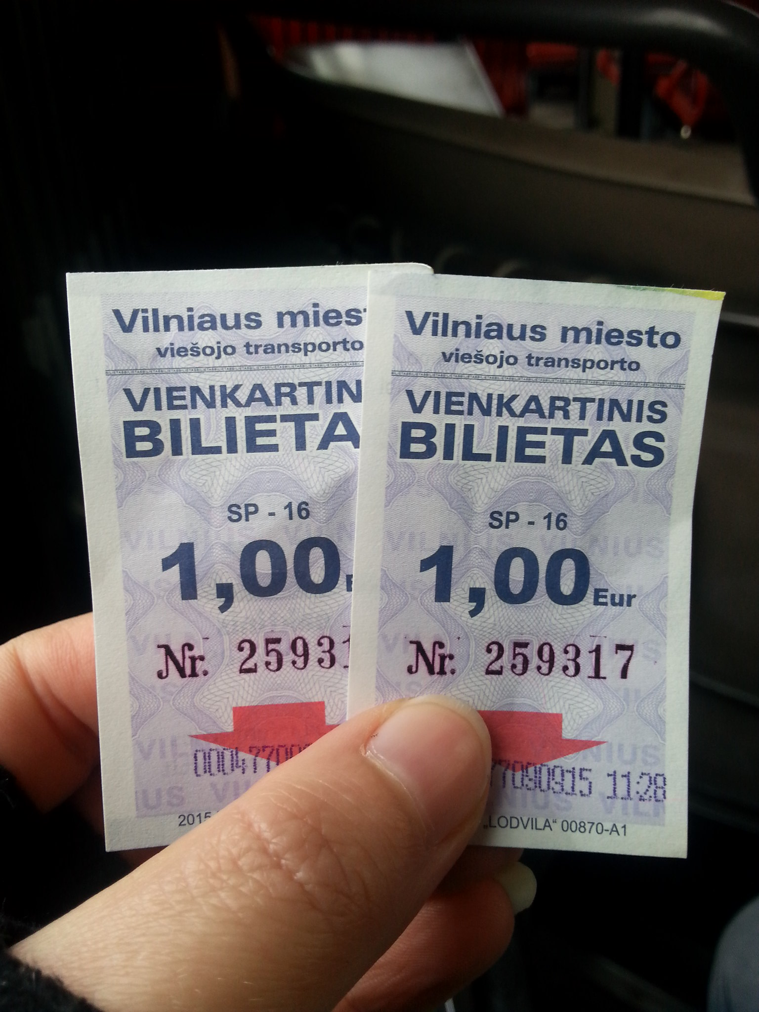 City breaks in Europe are great for budget travellers; Bus tickets in Vilnius cost 1 euro