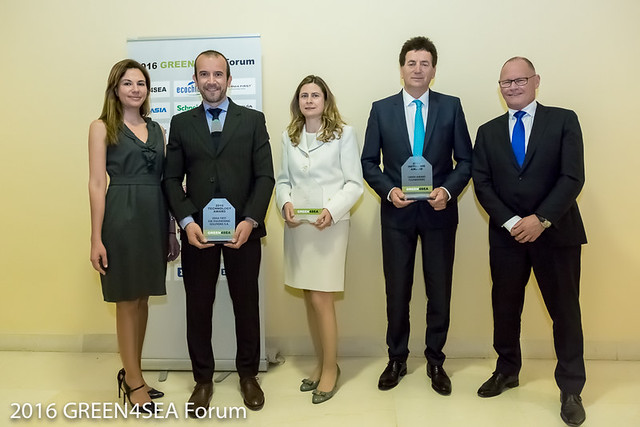 The winners of the 2016 GREEN4SEA Awards
