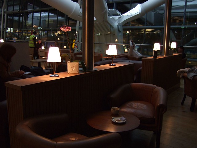 Luxurious seating area at Caffè Nero (Terminal 5 Launch day - Heathrow Airport)