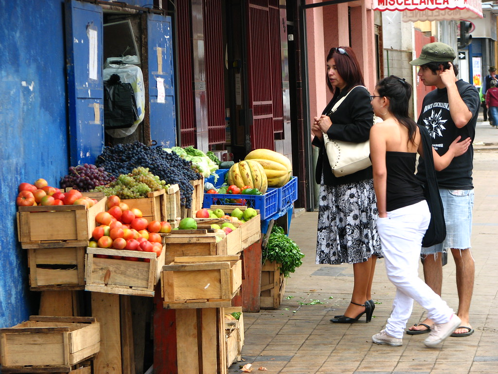 Comprando fruta
