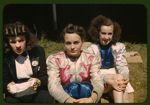 """Backstage"" at the ""girlie"" show at the Vermont state fair, Rutland  (LOC) 