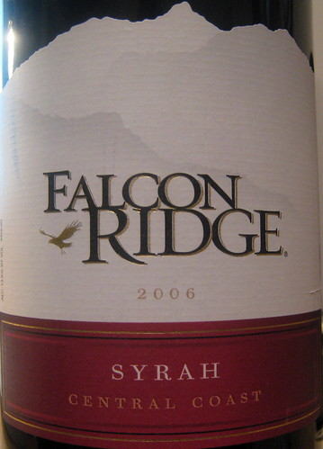 Falcon Ridge 2006 Syrah (front) | by 2 Guys Uncorked