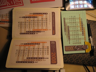 Moleskine Sqared Pocket with a HipsterPDA size Calendar | by guccio@文房具社