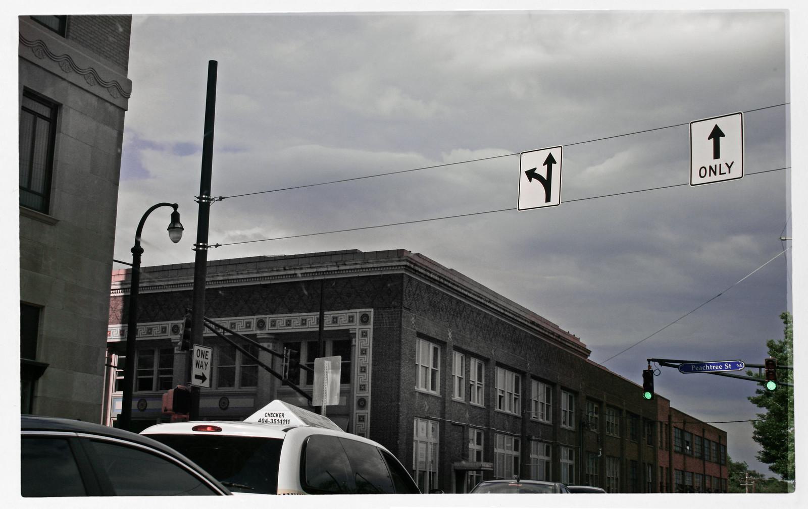 Checker Cab, Midtown Atlanta, Peachtree, 2013