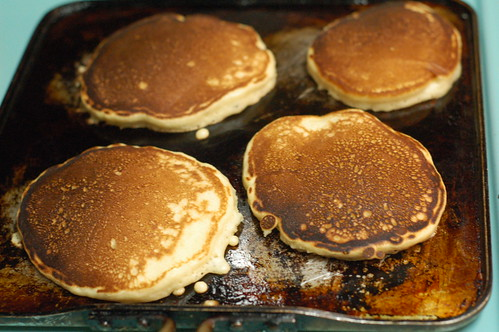 Pancakes on the griddle | by Marisa | Food in Jars