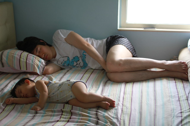 Baby & Papa Napping