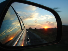 Texas Sunset in my Rear view | by Texas to Mexico