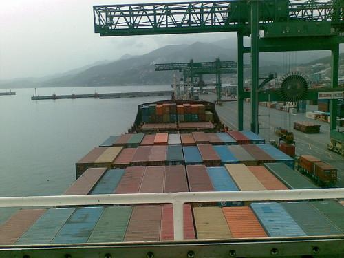 Dalla cabina di guida della nave storta la foto for Planimetrie della cabina di log