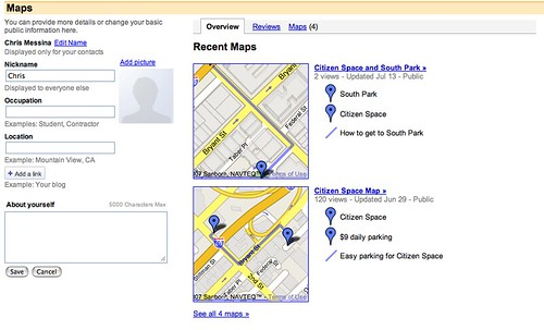 Google Maps Profile | by factoryjoe