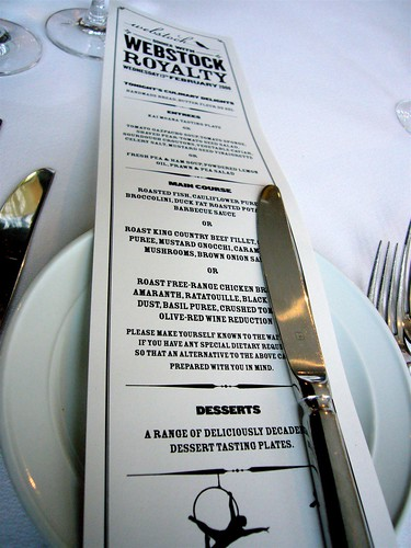 Speakers dinner menu | by simplebitsdan