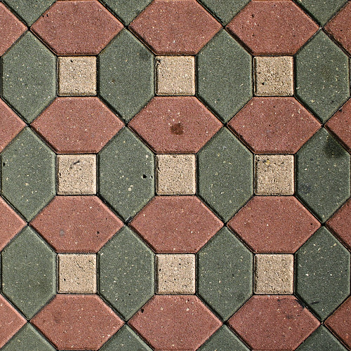Contemporary resort geometric stone tile walkway with repeating pattern 2 | by Brian Reynolds