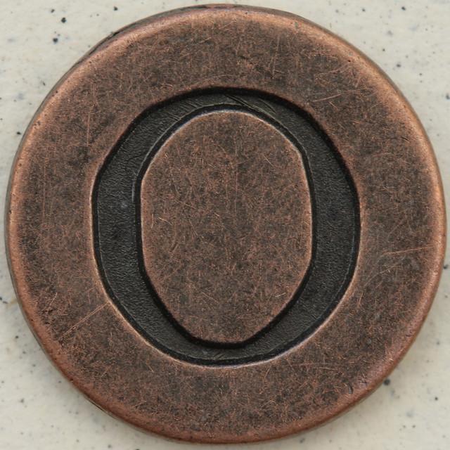 Copper Uppercase Letter O