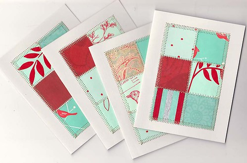 Red & Aqua card set | by winemakerssister