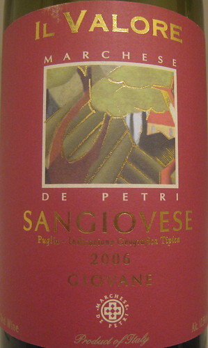 Marchese de Petri 2006 Sangiovese (front) | by 2 Guys Uncorked