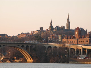 Georgetown above Key Bridge | by rpongsaj