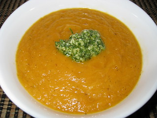Carrot Soup with Dill Pesto | by Kevin - Closet Cooking