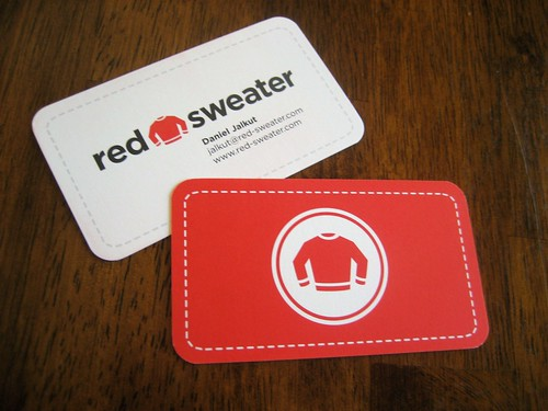 Red Sweater Business Cards | by Mike Rohde