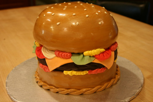 Cheeseburger Burger Cake | by cakezilla