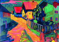 Kandinsky, Wassily - 1908 Murnau Street with Women | by RasMarley