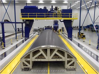 A350XWB composite fuselage panel production in Kinston, N.C. | by Spirit AeroSystems