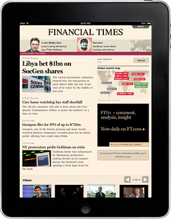 FT Web App on iPad: Home Screen | by Financial Times photos