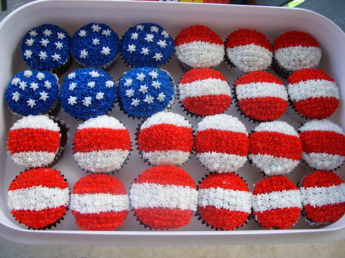 Fourth of July Cupcakes Flickr - Photo Sharing!