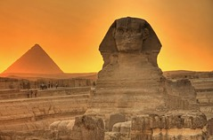The Sphinx and Menkaure | by Matt Champlin
