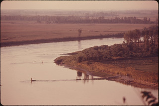 View of the Missouri River from a Loess Bluff, a Glacial-Formed Solid Earth Bluff, Which Is Characteristic of This Area Bordering the River...09/1974 | by The U.S. National Archives