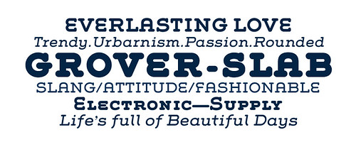 Grover Slab Typeface / HypeForType Fonts | by www.HypeForType.com