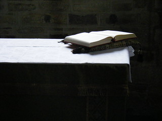 Bible, altar, Studland church, Dorset | by MattLake