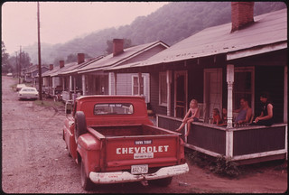 Row of Miners' Homes in the Brookside Mine Company Town of Brookside Kentucky, near Middlesboro 06/1974 | by The U.S. National Archives